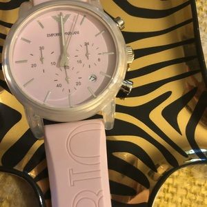 Subtle pink Emporio Armani watch